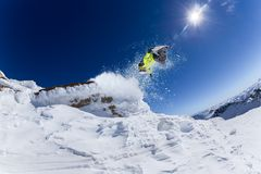 Skier in high mountains Stock Image