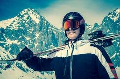 Skier at High Tatras, Slovakia Royalty Free Stock Image