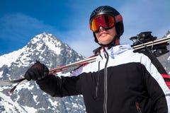 Skier at High Tatras, Slovakia stock photography