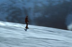 Skier i handling 4 Arkivfoton