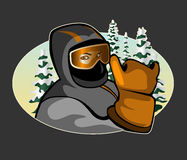 Skier Icon Royalty Free Stock Photo