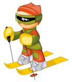 Skier icon Stock Photo