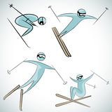 Skier Icon Set Stock Image