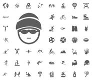 Skier icon. Sport illustration vector set icons. Set of 48 sport icons. Skier icon. Sport illustration vector set icons. Set of 48 sport icons Stock Photography