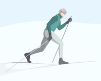 Skier illustration Royalty Free Stock Image