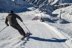 Free Skier In The Italian Alps Stock Photo - 106946410