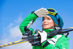 Skier instructor portrait Royalty Free Stock Photography