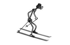 Skier iron toy isolated  Royalty Free Stock Photo