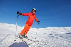 Free Skier Is Posing At Camera At Gudauri Resort In High Mountaing Of Royalty Free Stock Photos - 33963008