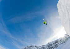 Skier jump Stock Photography
