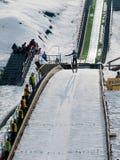 Skier jumper Stock Images