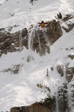 Skier jumps in IFSA Freeskiing Finals Stock Image