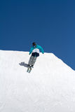Skier jumps in Snow Park,  ski resort Stock Photography