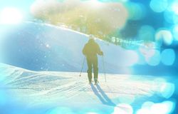 Skier. Male skier Stock Image