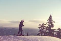 Skier. Male skier Stock Photo