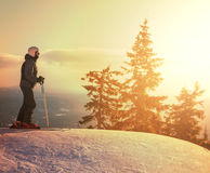 Skier. Male skier Royalty Free Stock Images