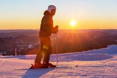 Skier. Male skier Royalty Free Stock Photo