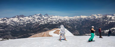 Skier on  Mammoth mountain Royalty Free Stock Image