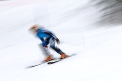 Skier man in motion Stock Photo