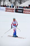 Skier Marie Marchand-Arivier finishing Stock Photography