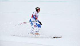Skier Marion Rolland on track Stock Images