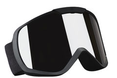Skier mask with reflection. Black skier mask on the white background Stock Image