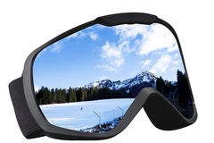 Skier mask with reflection Stock Images