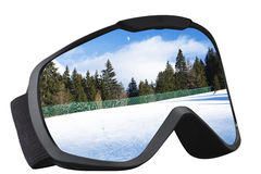 Skier mask with reflection Royalty Free Stock Photo