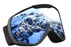 Skier mask with reflection. Of the top of the mountain Royalty Free Stock Photography