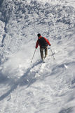 Skier on Mont Blanc Stock Photo