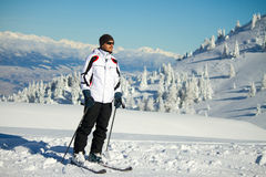 Skier on mountain Stock Images