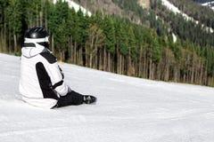 Skier on the mountain Stock Photo