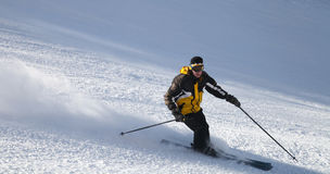 Skier on mountain slope Stock Image