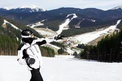 Skier on the mountain Stock Image