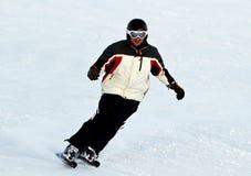 Skier in mountains Stock Photos