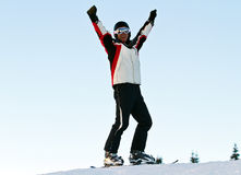 Skier in mountains Stock Photography