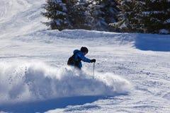 Skier at mountains ski resort Bad Gastein - Austria Royalty Free Stock Photography