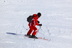 Skier at mountains ski resort Innsbruck - Austria Royalty Free Stock Images
