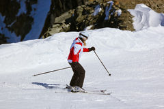 Skier at mountains ski resort Innsbruck - Austria Stock Photography