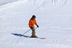 Skier at mountains ski resort Innsbruck - Austria Stock Images
