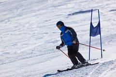 Skier at mountains ski resort Innsbruck - Austria Royalty Free Stock Photos