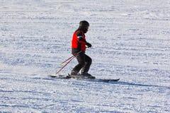 Skier at mountains ski resort Innsbruck - Austria Stock Photo