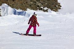 Skier at mountains ski resort Innsbruck - Austria Stock Image