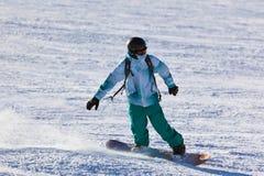 Skier at mountains ski resort Innsbruck - Austria Royalty Free Stock Images