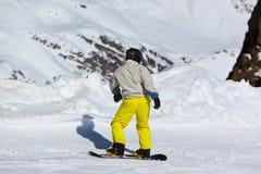 Skier at mountains ski resort Innsbruck - Austria Royalty Free Stock Photography