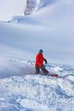 Skier at mountains ski resort Kaprun Austria Royalty Free Stock Images