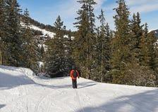 Free Skier On A Piste In Alpine Ski Resort Stock Images - 90744844