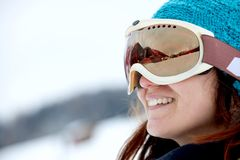 Skier portrait Stock Photos
