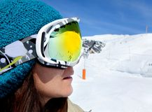 Skier portrait Stock Images
