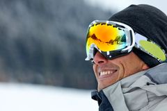 Skier portrait Stock Photography